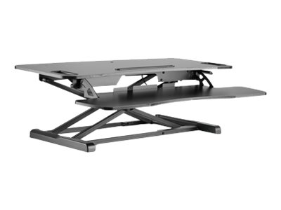 DIGITUS Ergonomic Workspace Riser DA-90380-1 - Aufstellung für LCD-Bildschirm/Tastatur/Maus - Schwarz - auf dem Tisch