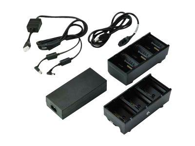 Zebra 3-Slot Battery Charger Connected via Y Cable - Batterieladegerät - Ausgangsanschlüsse: 3 - Grossbritannien und Nordirland