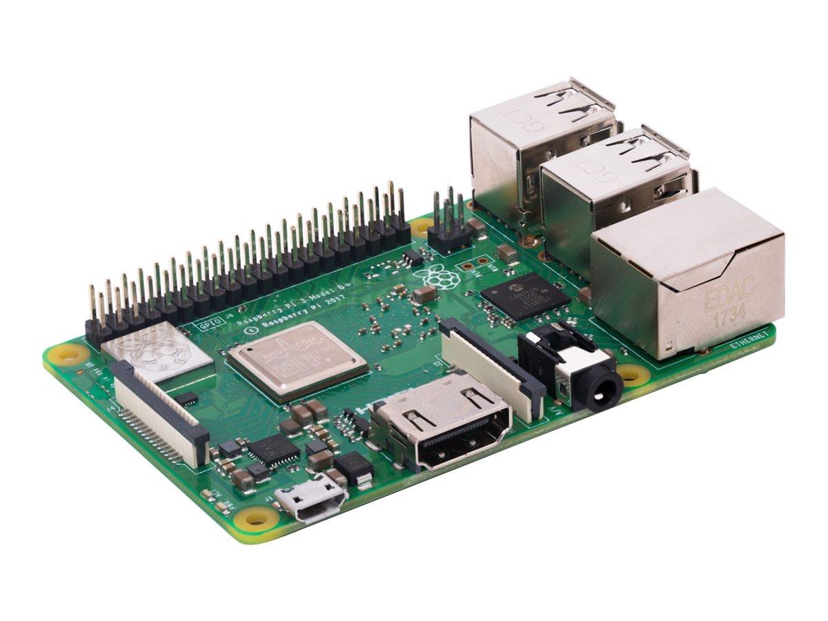 Raspberry Pi 3 Model B+ - Einplatinenrechner - Broadcom BCM2837B0 1.4 GHz - RAM 1 GB - 802.11a/b/g/n/ac, Bluetooth 4.2 LE