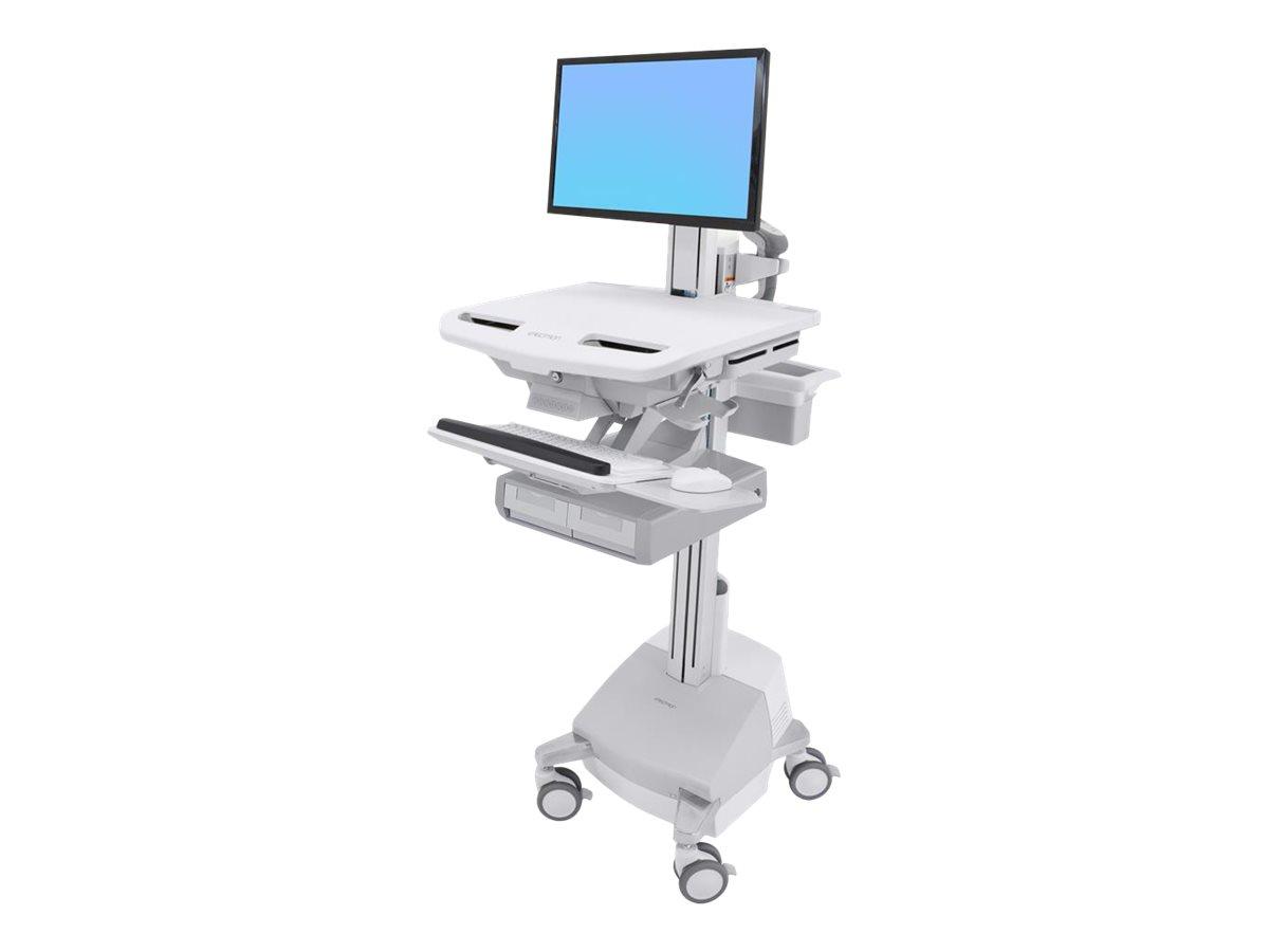 Ergotron Cart with LCD Pivot, SLA Powered, 2 Drawers - Wagen für LCD-Display/Tastatur/Maus/CPU/Notebook/Barcodescanner - verrieg