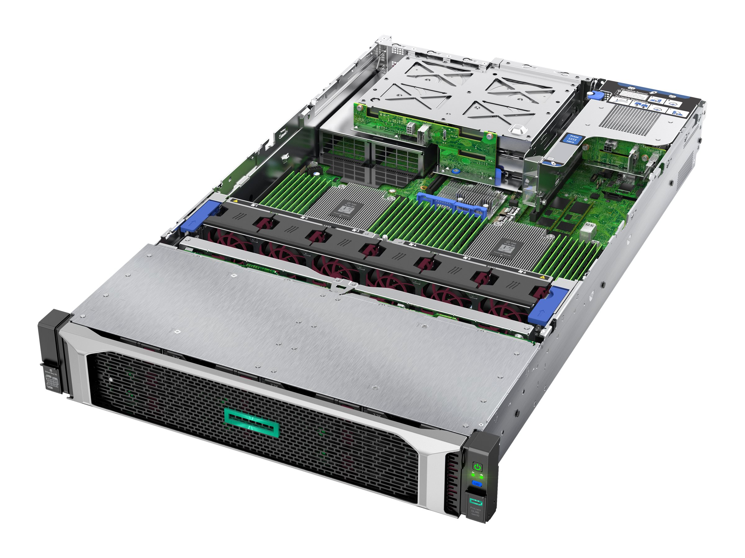 HPE ProLiant DL385 Gen10 Base - Server - Rack-Montage - 2U - zweiweg - 1 x EPYC 7551 / 2 GHz