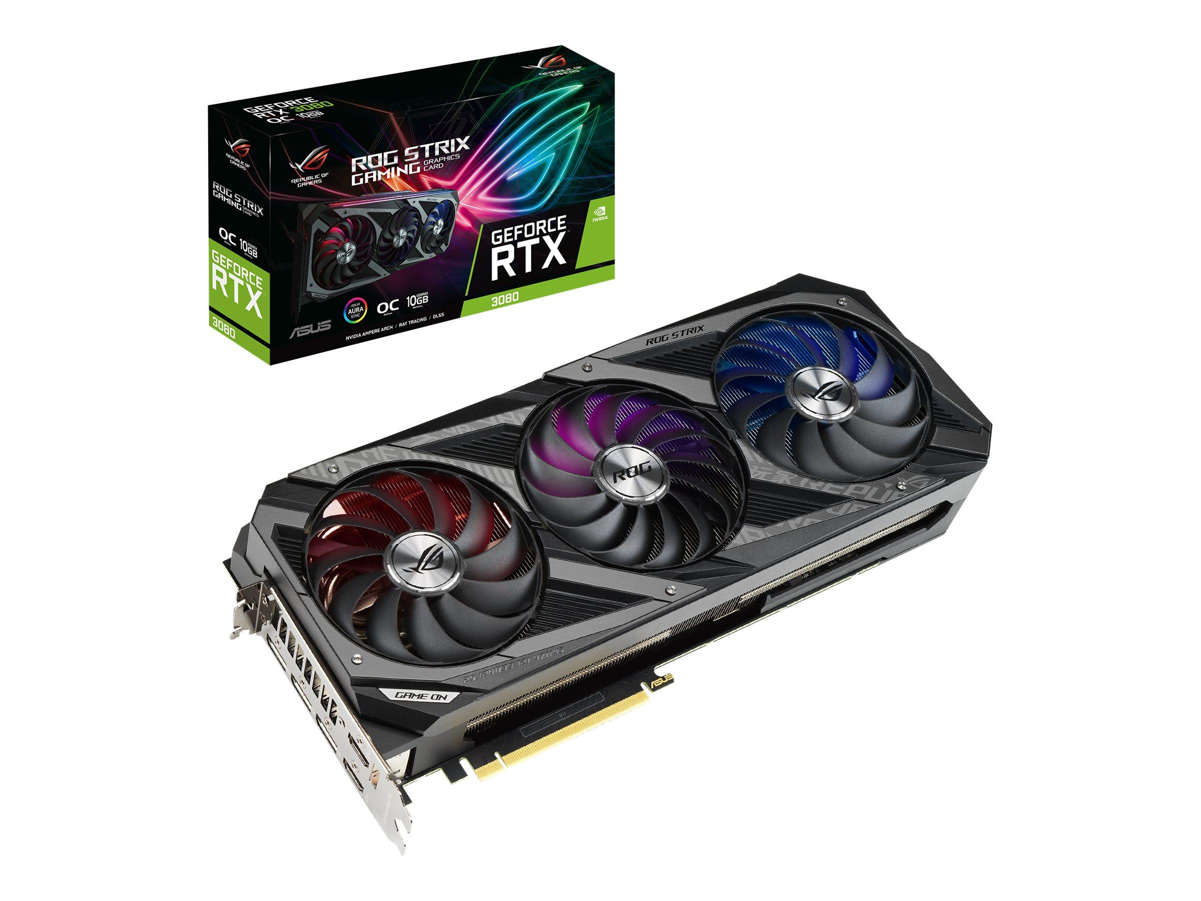 ASUS ROG-STRIX-RTX3080-O10G-GAMING - OC Edition - Grafikkarten - GF RTX 3080 - 10 GB GDDR6X - PCIe 4.0
