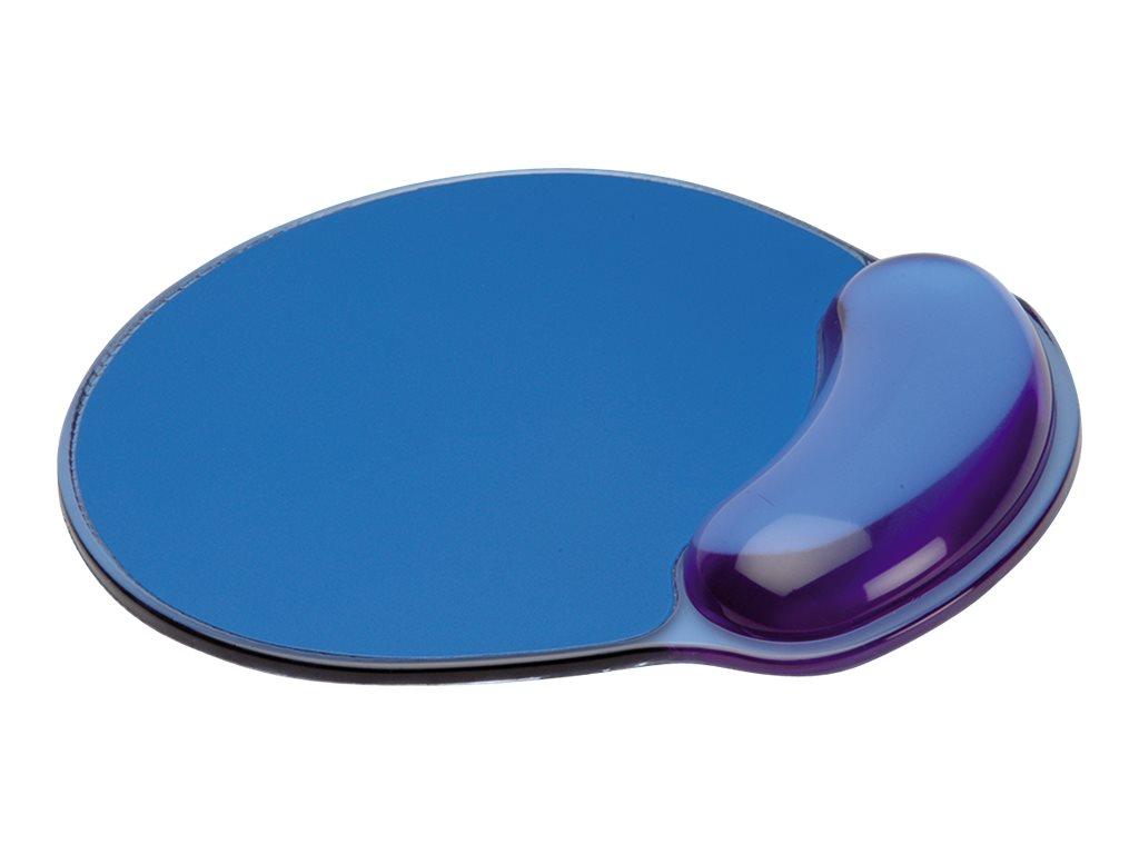 Secomp - Mauspad mit Handgelenkpolsterkissen - durchsichtig blau