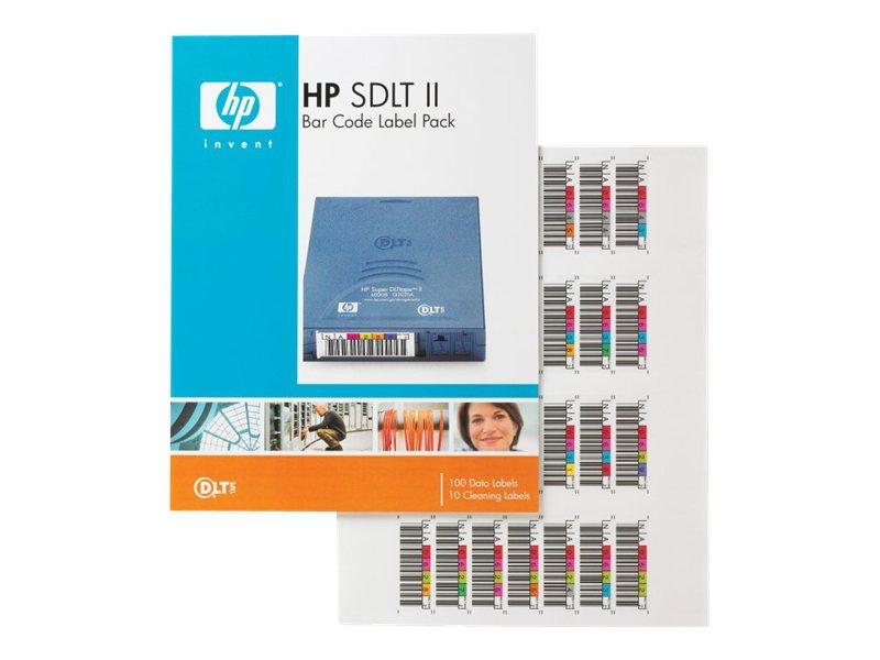 HPE SDLT II Bar Code Label Pack - Strichcodeetiketten - für StorageWorks SDLT 600