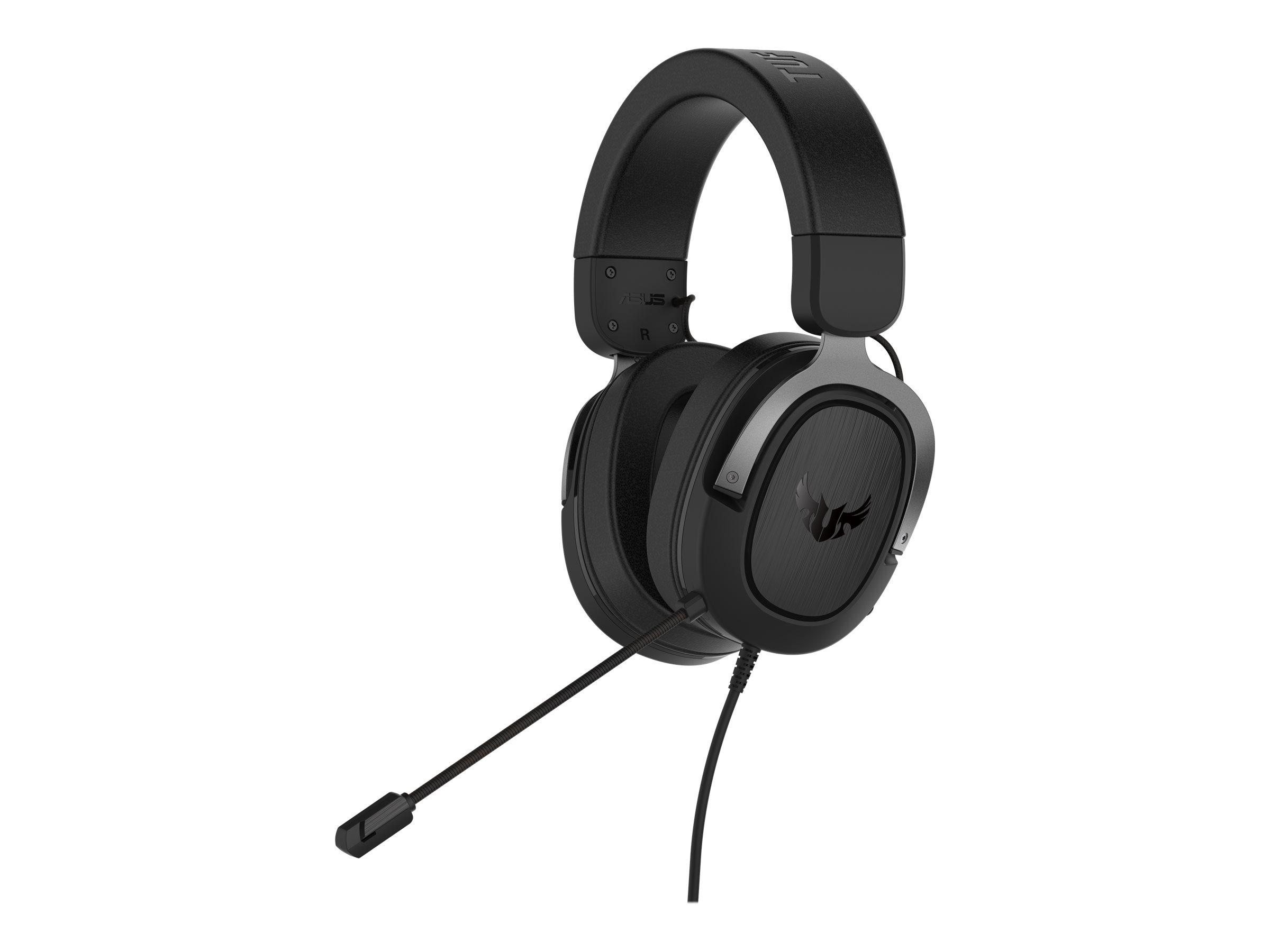 ASUS TUF Gaming H3 - Headset - ohrumschliessend - kabelgebunden - 3,5 mm Stecker - Gun Metal