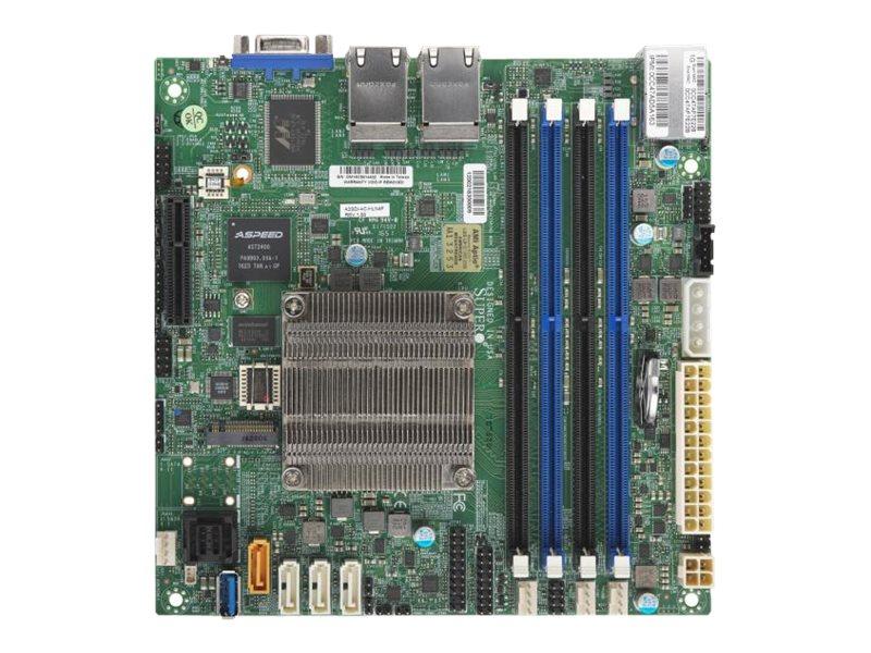 SUPERMICRO A2SDi-4C-HLN4F - Motherboard - Mini-ITX - Intel Atom C3558 - USB 3.0 - 4 x Gigabit LAN