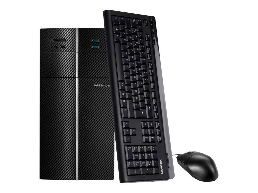 Medion Akoya P62013 - Tower - 1 x Core i5 8400 / 2.8 GHz - RAM 8 GB - SSD 128 GB, HDD 1 TB - DVD SuperMulti