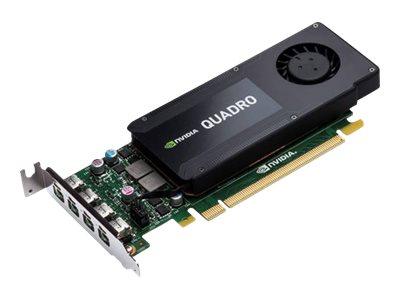 NVIDIA Quadro K1200 - Grafikkarten - Quadro K1200 - 4 GB GDDR5 - PCIe 2.0 x16 Low-Profile - 4 x Mini DisplayPort