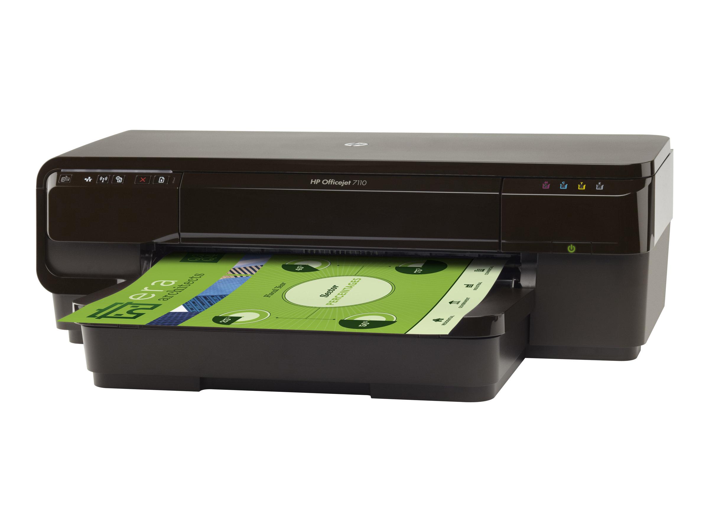 HP Officejet 7110 Wide Format ePrinter - Drucker - Farbe - Duplex - Tintenstrahl - A3