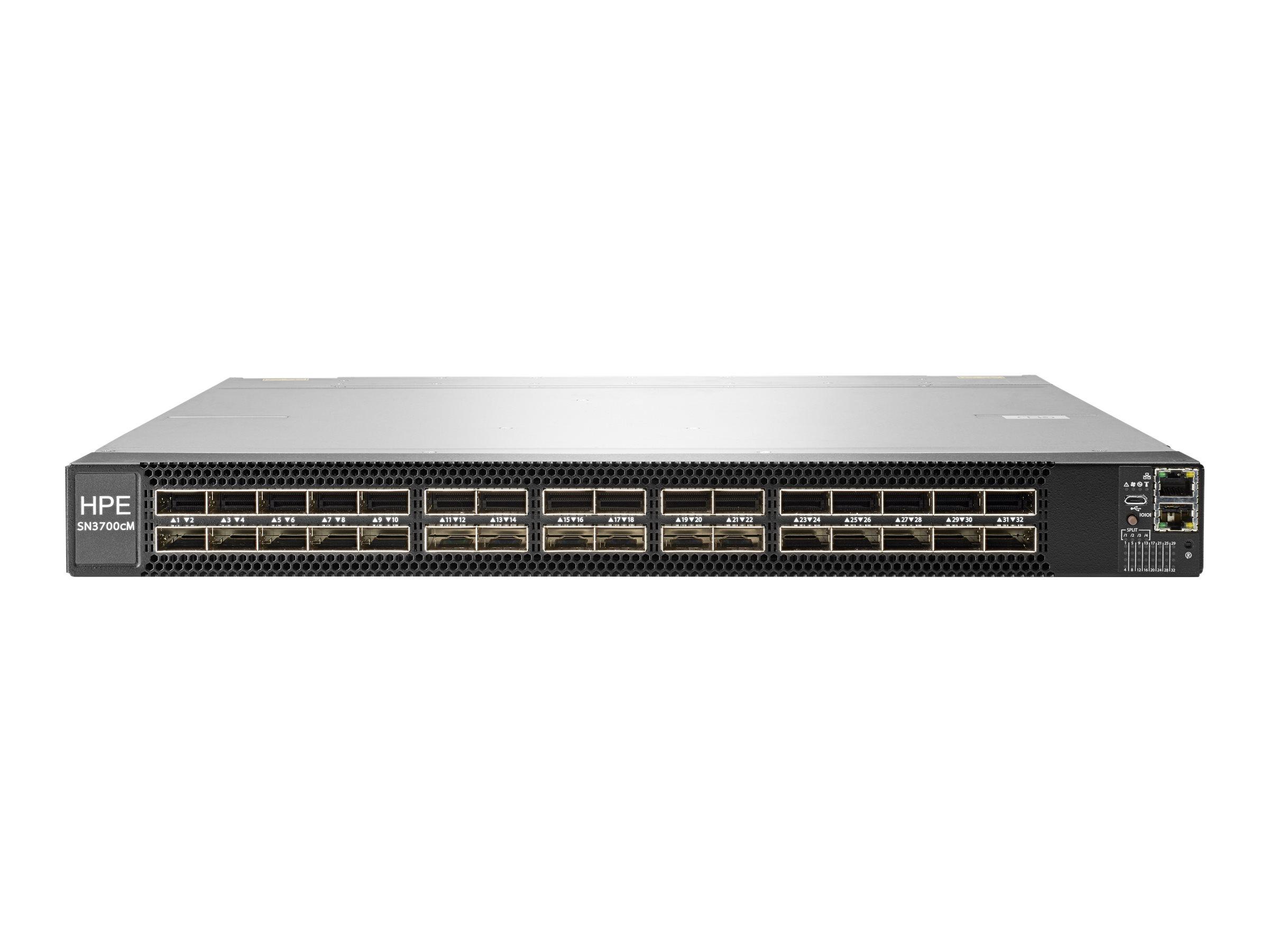 HPE SN3700cM 100GbE 32QSFP28 Switch - M-Series - Switch - L3 - managed - 32 x 100 Gigabit QSFP28