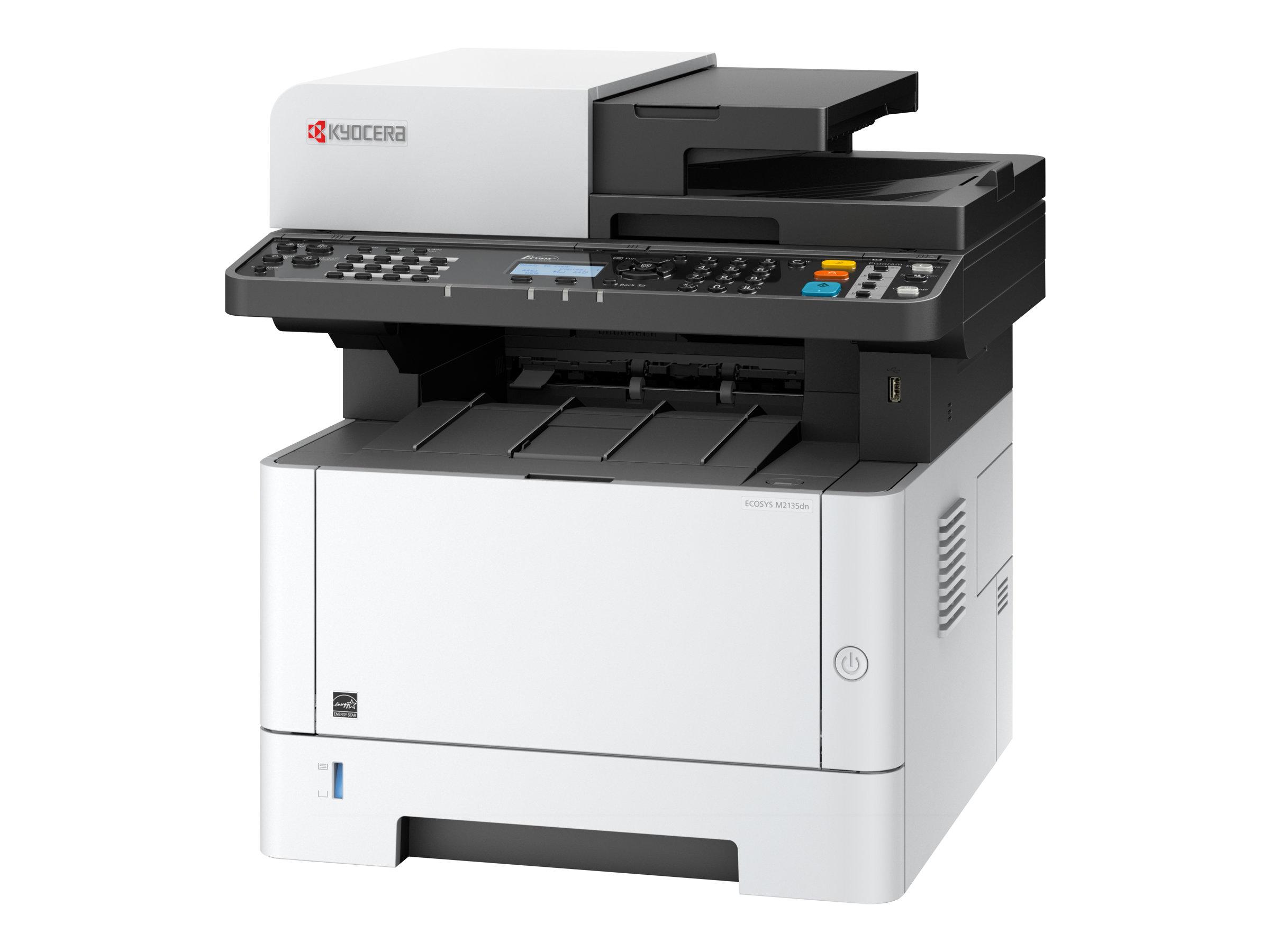 Kyocera ECOSYS M2135dn - Multifunktionsdrucker - s/w - Laser - Legal (216 x 356 mm) (Original) - A4/Legal (Medien)