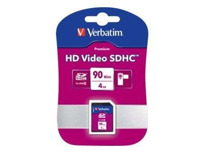 Verbatim HD Video - Flash-Speicherkarte - 4 GB - Class 6 - 66x/133x - SDHC