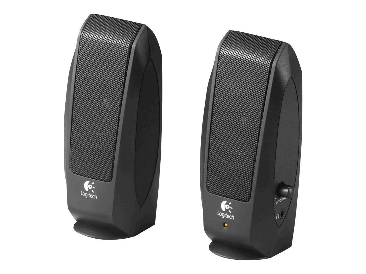 Logitech S-120 - Lautsprecher - für PC - 2.3 Watt (Gesamt) - Schwarz