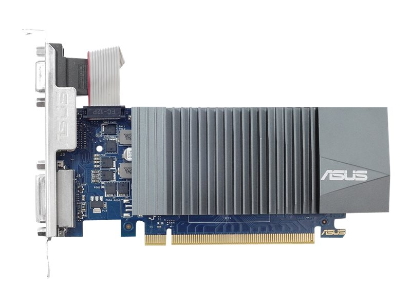 ASUS GT710-SL-2GD5 - Grafikkarten - GF GT 710 - 2 GB GDDR5 - PCIe 2.0 - DVI, D-Sub, HDMI
