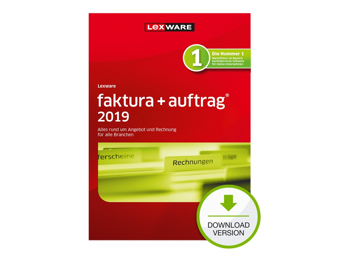 Lexware faktura+auftrag 2019 - Abonnement-Lizenz (1 Jahr) - 1 Benutzer - Download - ESD - Deutsch