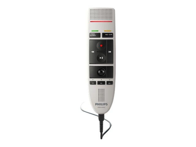 Philips SpeechMike USB LFH3200 - Mikrofon - Schwarz, Warm Gray