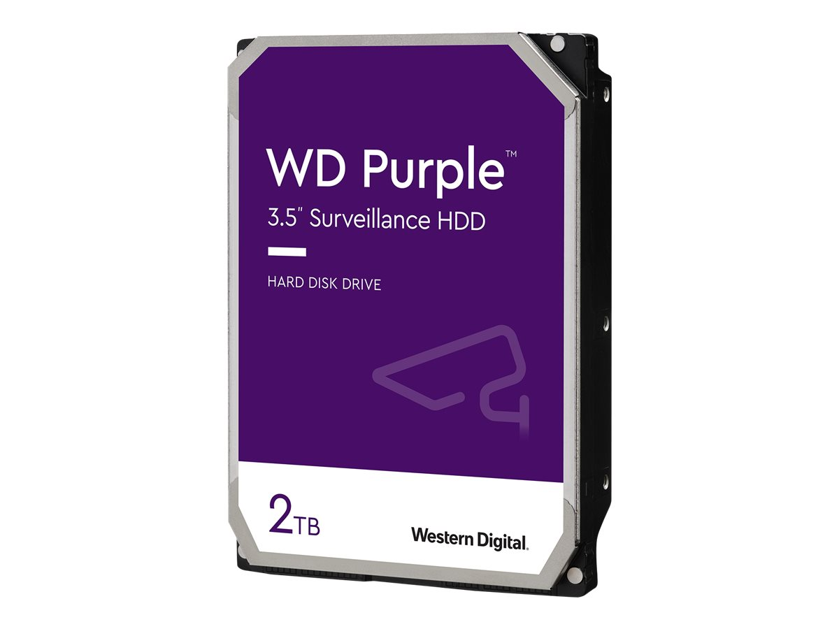 WD Purple Surveillance Hard Drive WD20PURZ - Festplatte - 2 TB - intern - 3.5