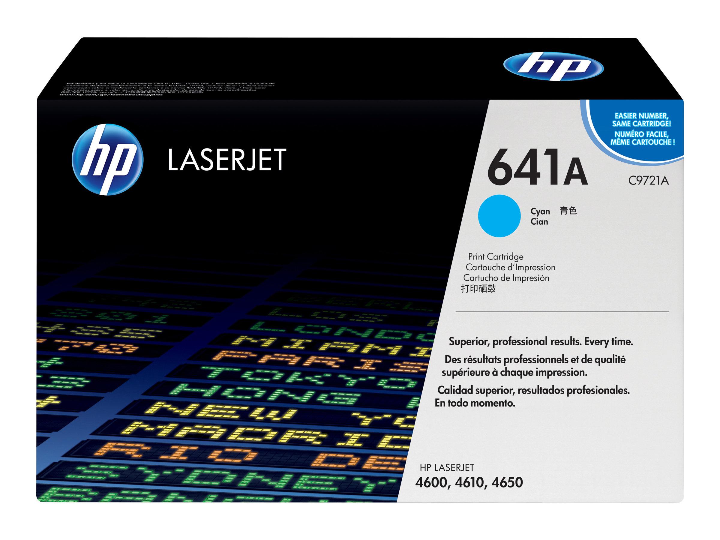 HP 641A - Cyan - Original - LaserJet - Tonerpatrone (C9721A) - für Color LaserJet 4600, 4610, 4650