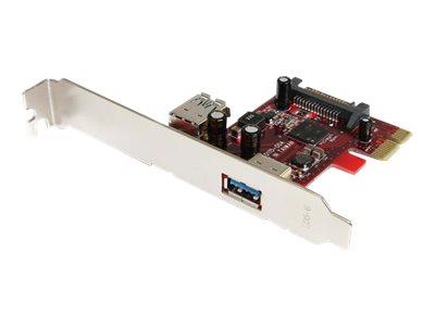 StarTech.com 2 Port USB 3.0 SuperSpeed PCI Express Schnittstellenkarte mit UASP Unterstützung - PCIe USB 3 Karte 1 intern/ 1 ext