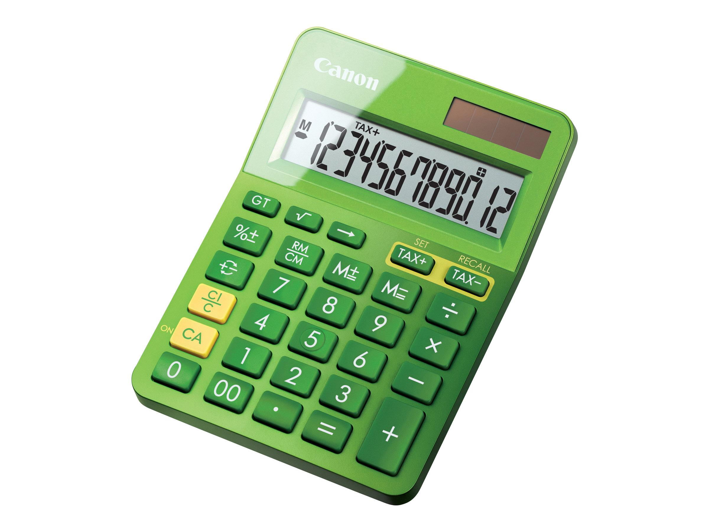 Canon LS-123K - Desktop-Taschenrechner - 12 Stellen - Solarpanel, Batterie - metallisch grün