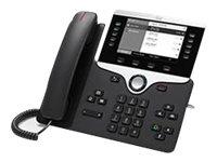 Cisco IP Phone 8811 - VoIP-Telefon - SIP, RTCP, RTP, SRTP, SDP - 5 Leitungen - holzkohlefarben
