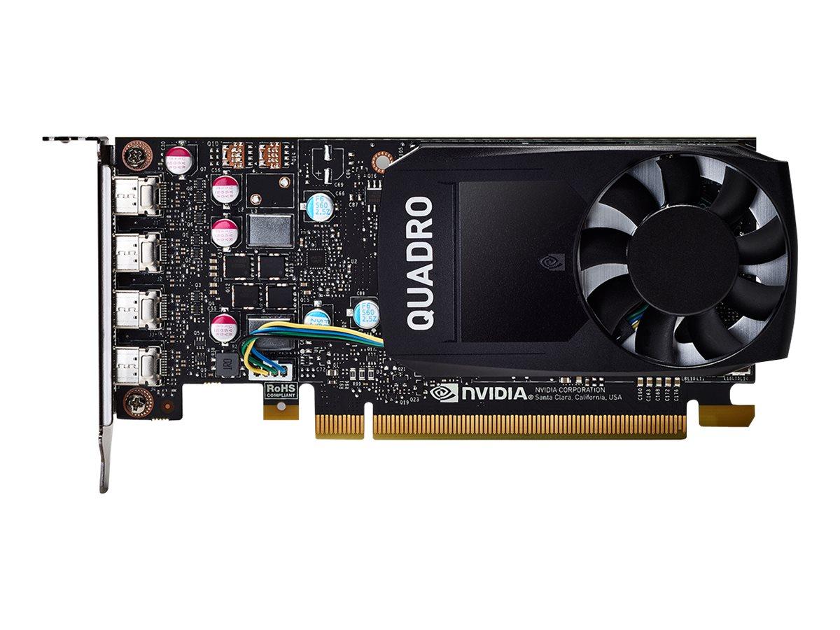 NVIDIA Quadro P600 DVI - Grafikkarten - Quadro P600 - 2 GB GDDR5 - PCIe 3.0 x16 Low-Profile - 4 x Mini DisplayPort
