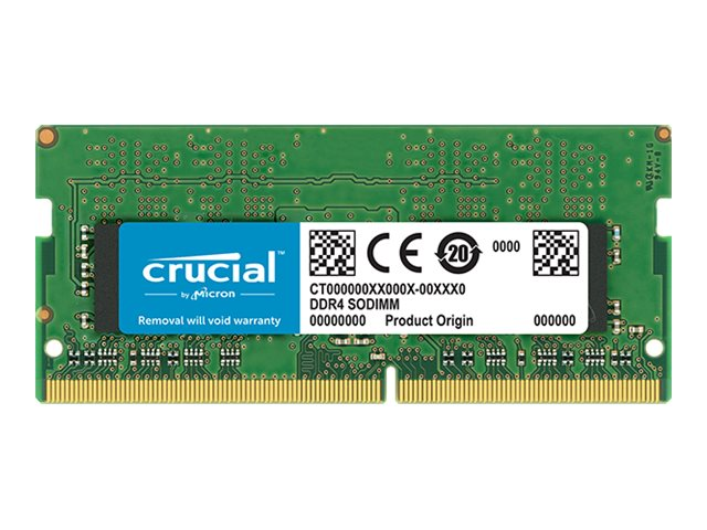 Crucial - DDR4 - 16 GB - SO DIMM 260-PIN - 3200 MHz / PC4-25600 - CL22