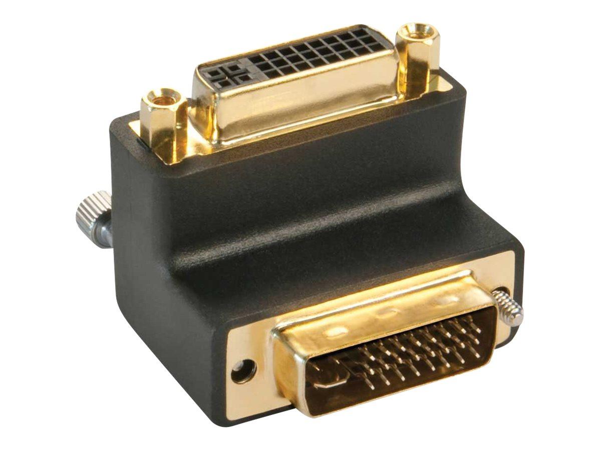 Lindy - DVI-Adapter - DVI-I (M) bis DVI-I (W) - 90° Stecker, Daumenschrauben