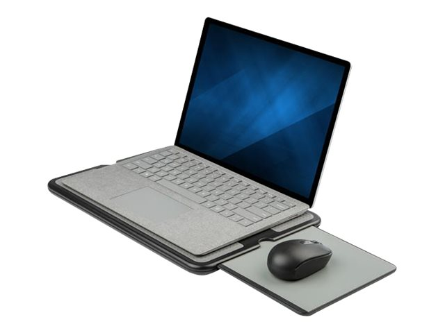 StarTech.com NTBKPAD Laptop Scho?tisch (Fur 13 und 15 Zoll Laptops, tragbares Notebook Scho?tablett, ausziehbares Mauspad, rutsc