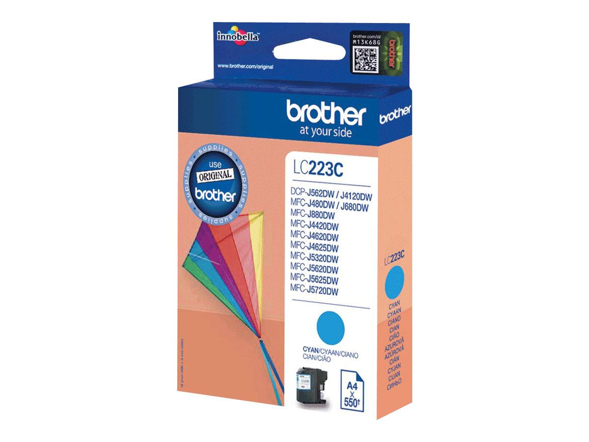 Brother LC-223C - Cyan - Original - Tintenpatrone - für Brother DCP-J4120, J562, MFC-J4625, J480, J680, J880; Business Smart MFC