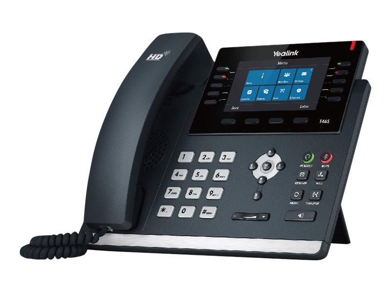 Yealink SIP-T46S - Skype for Business Edition - VoIP-Telefon mit Rufnummernanzeige - dreiweg Anruffunktion - SIP, SIP v2 - 16 Ze