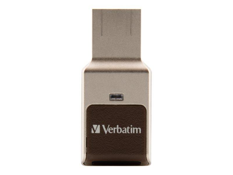 Verbatim Fingerprint Secure - USB-Flash-Laufwerk - verschlüsselt - 32 GB - USB 3.0