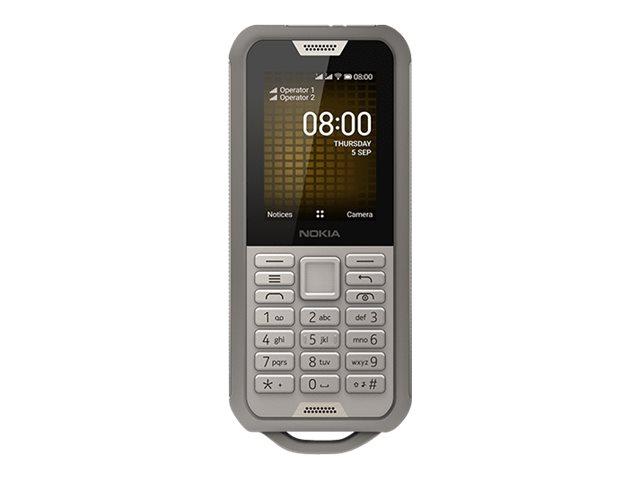 Nokia 800 Tough - 4G feature phone - Dual-SIM - RAM 512 MB / 4 GB - microSD slot - 320 x 240 Pixel