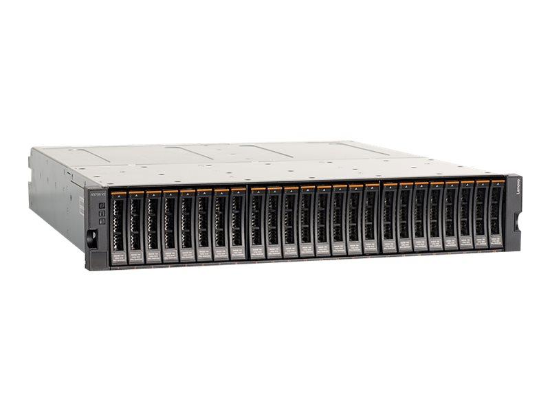 Lenovo Storage V3700 V2 SFF Control Enclosure - Festplatten-Array - 24 Schächte (SAS-3) - iSCSI (1 GbE) (extern) - Rack - einbau