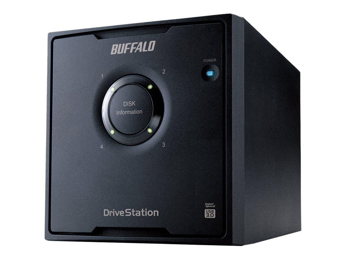 BUFFALO DriveStation Quad USB 3.0 - Festplatten-Array - 12 TB - 4 Schächte (SATA-300) - HDD 3 TB x 4 - USB 3.0 (extern)