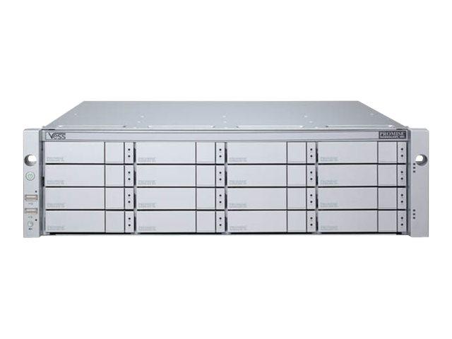 Promise Vess J2600sD - Festplatten-Array - 128 TB - 16 Schächte (SATA-600 / SAS-2) - HDD 8 TB x 16 - SAS 6Gb/s (extern)