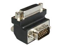 DeLOCK Adapter DVI 24+5 female / VGA 15 pin male 90°angled - VGA-Adapter - HD-15 (VGA) (M) bis DVI-I (W) - 90° Stecker, Daumensc