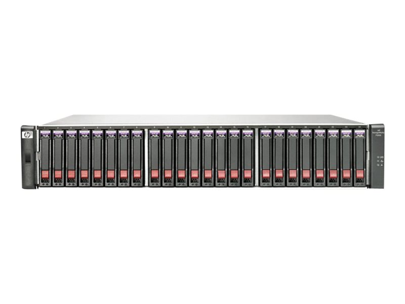 HPE Modular Smart Array P2000 G3 10GbE iSCSI Dual Controller SFF Array System - Festplatten-Array - 24 Schächte (SATA-300 / SAS-