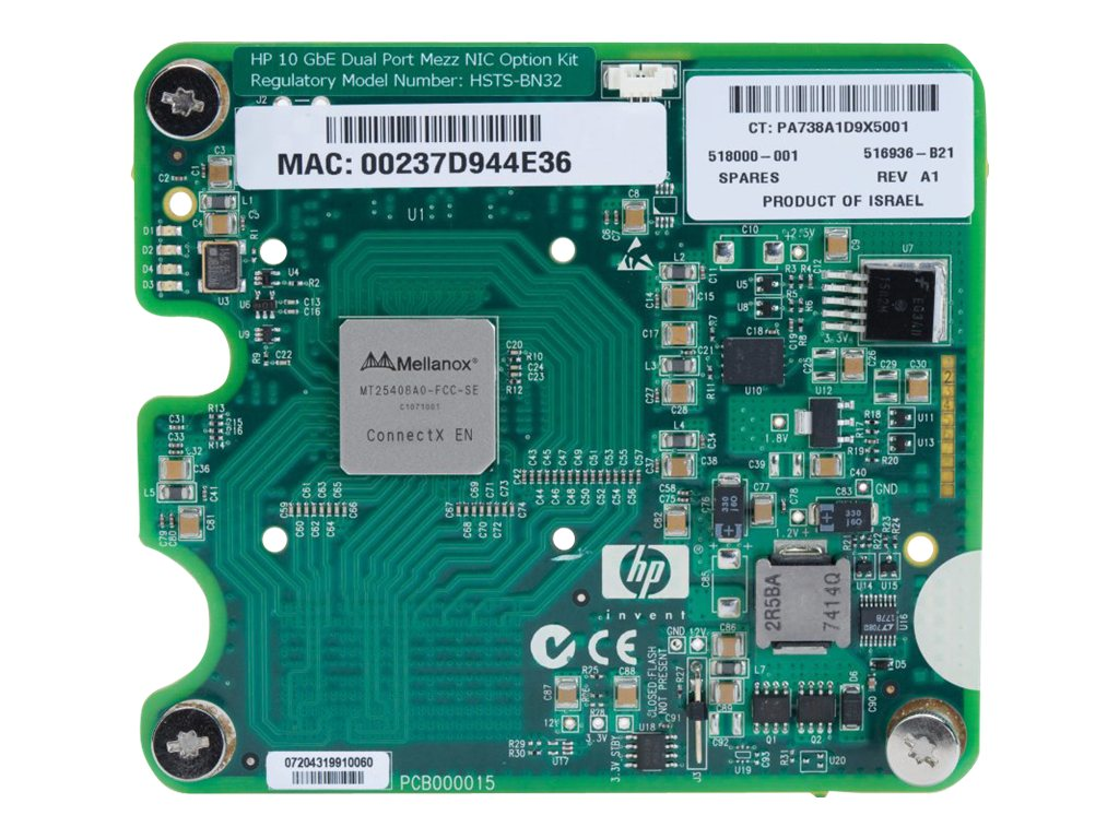HPE Dual Port Mezzanine Adapter - Netzwerkadapter - 10 GigE - 2 Anschlüsse - für ProLiant BL280c G6, BL2x220c G6, BL460c G5, BL4