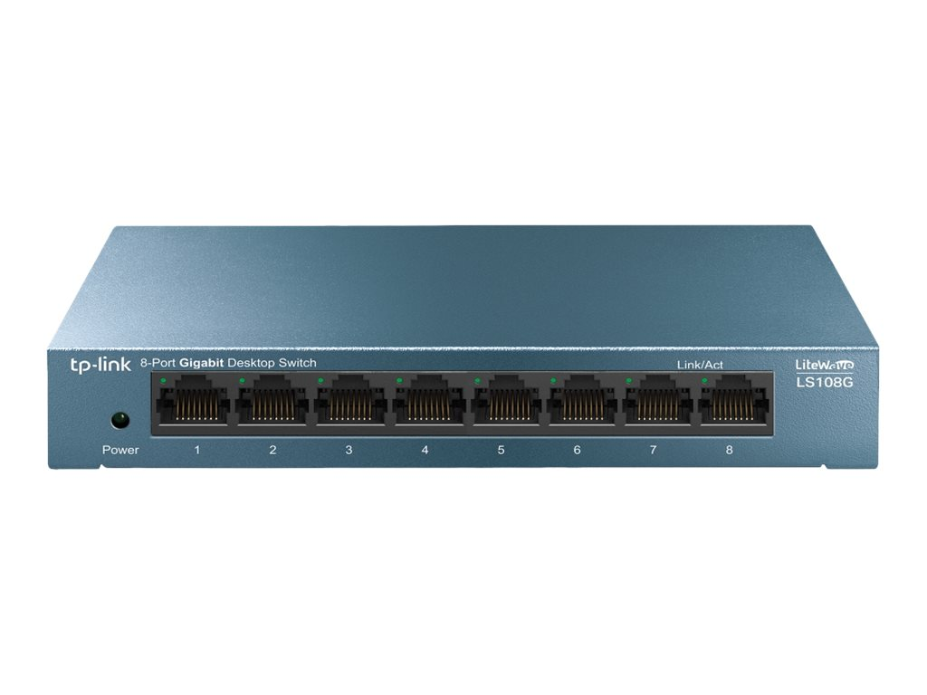 TP-Link LiteWave LS108G - Switch - unmanaged - 8 x 10/100/1000 - Desktop - AC 220 V