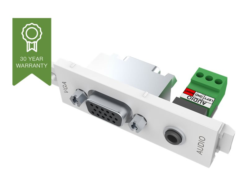 VISION TechConnect 3 VGA+3.5mm D module - Modulares Faceplate-Snap-In - HD-15, Mini-Phone Stereo 3,5 mm
