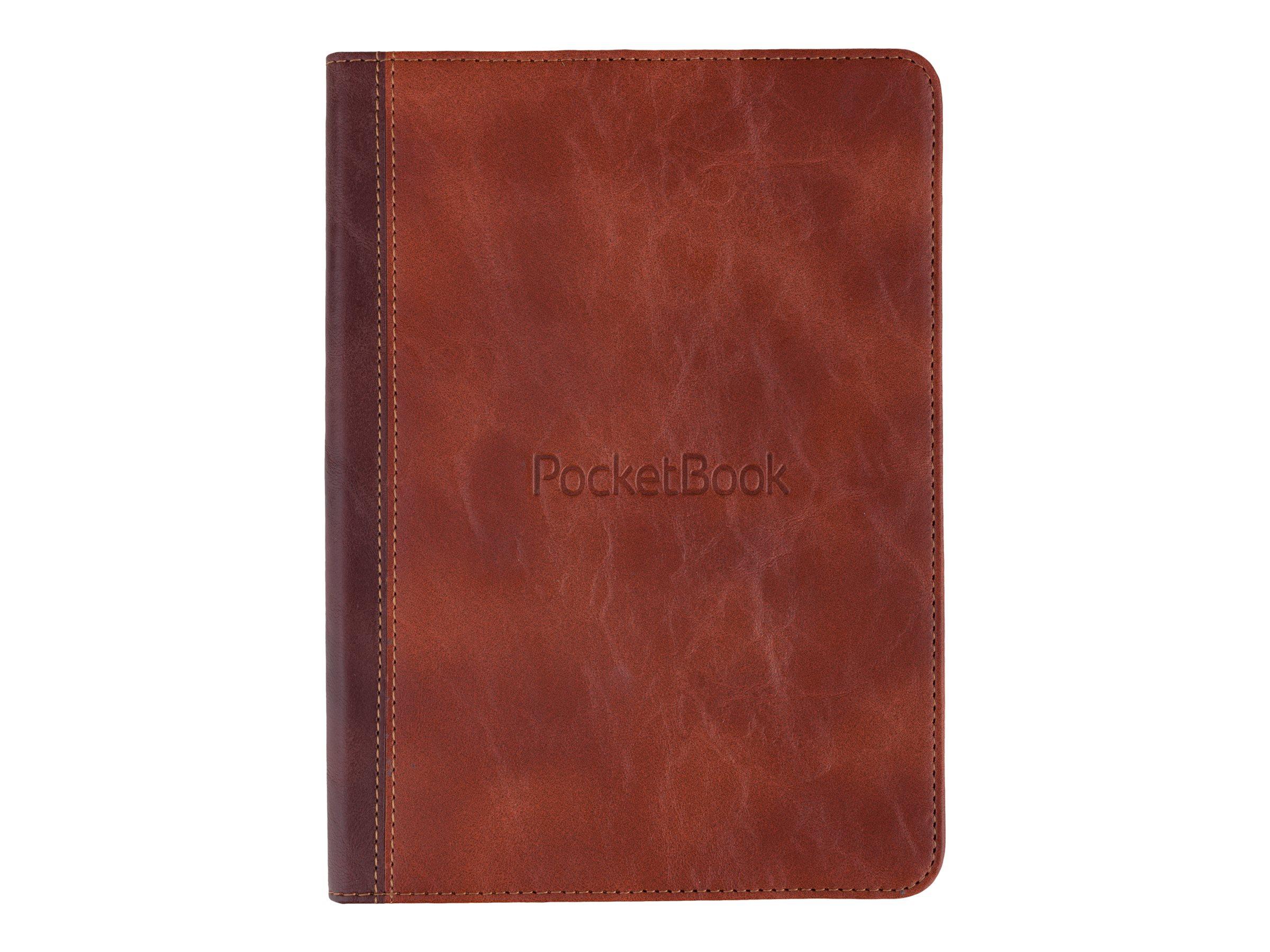 PocketBook - Flip-Hülle für eBook-Reader - Polyurethan-Kunstleder - braun - für PocketBook InkPad 3