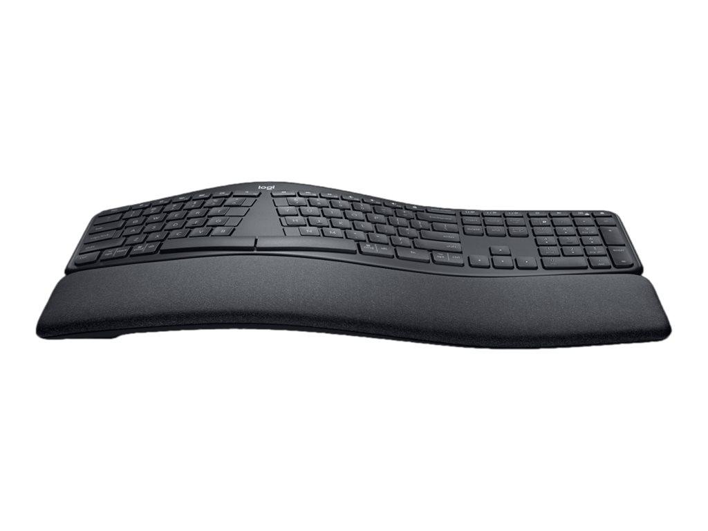 Logitech ERGO K860 - Tastatur - kabellos - 2.4 GHz, Bluetooth 5.0 - QWERTY - USA International