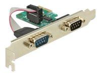 DeLock PCI Card > 2 x Serial RS-232 - Serieller Adapter - PCIe 1.1 - RS-232 x 2 - grün