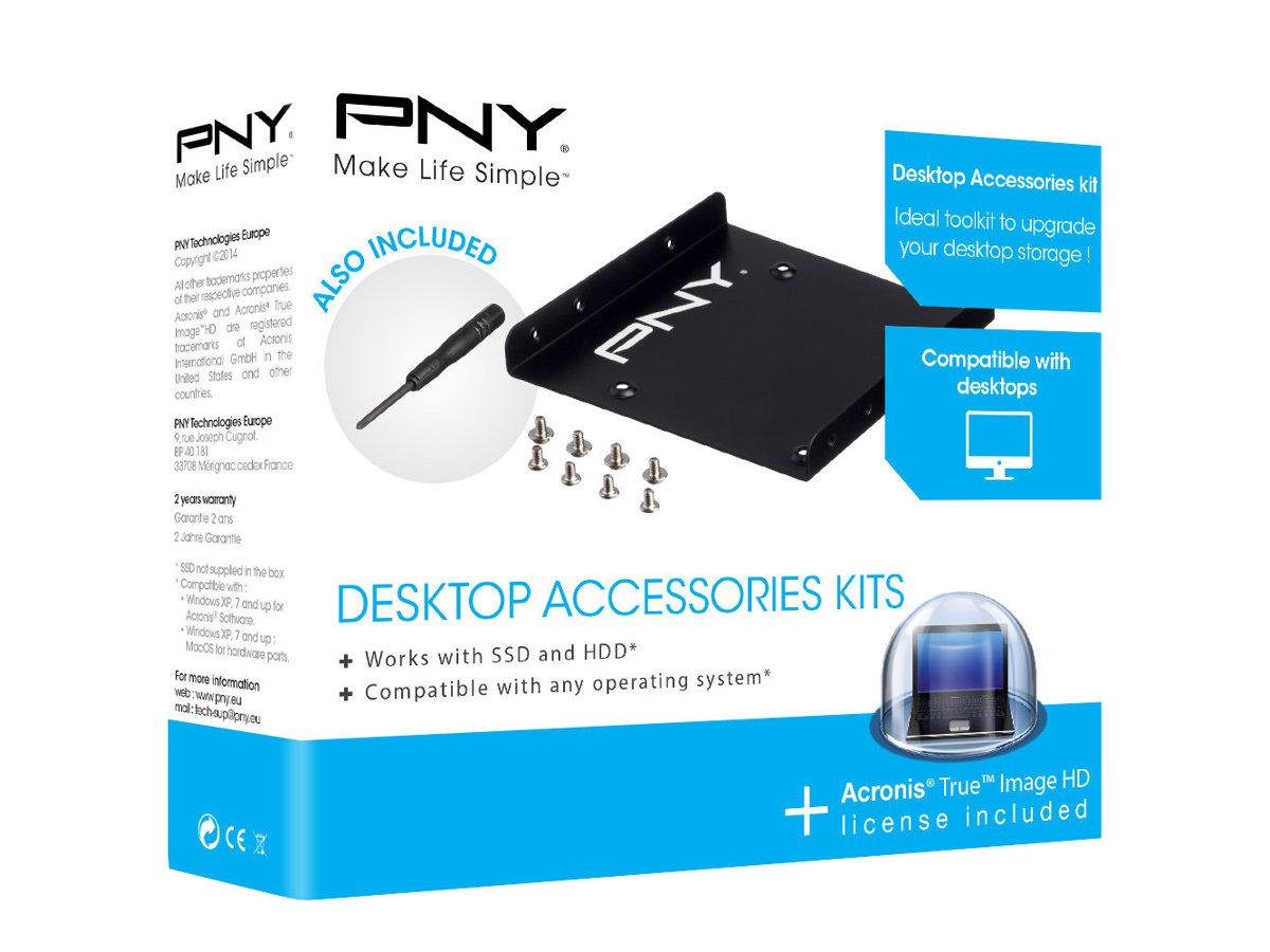 PNY Desktop Accessories Kit - Speichereinschubadapter - 3,5