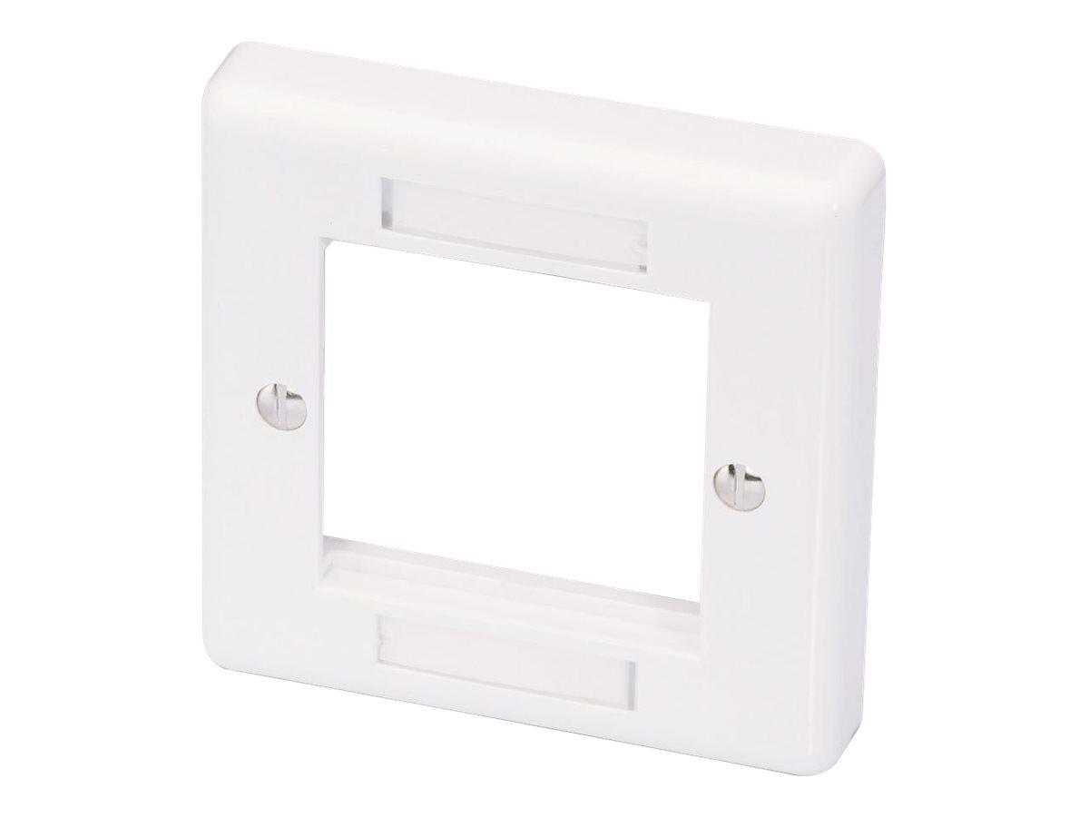 LINDY Modular AV Face Plate System Single Gang Snap In Face Plate - Frontabdeckung - weiss - Abdeckung mit einer Aussparung