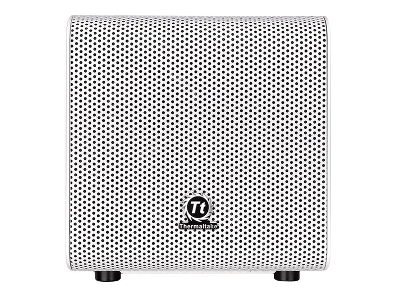 Thermaltake Core V1 Snow Edition - Mini Tower - Mini-ITX - ohne Netzteil (PS/2) - weiss - USB/Audio