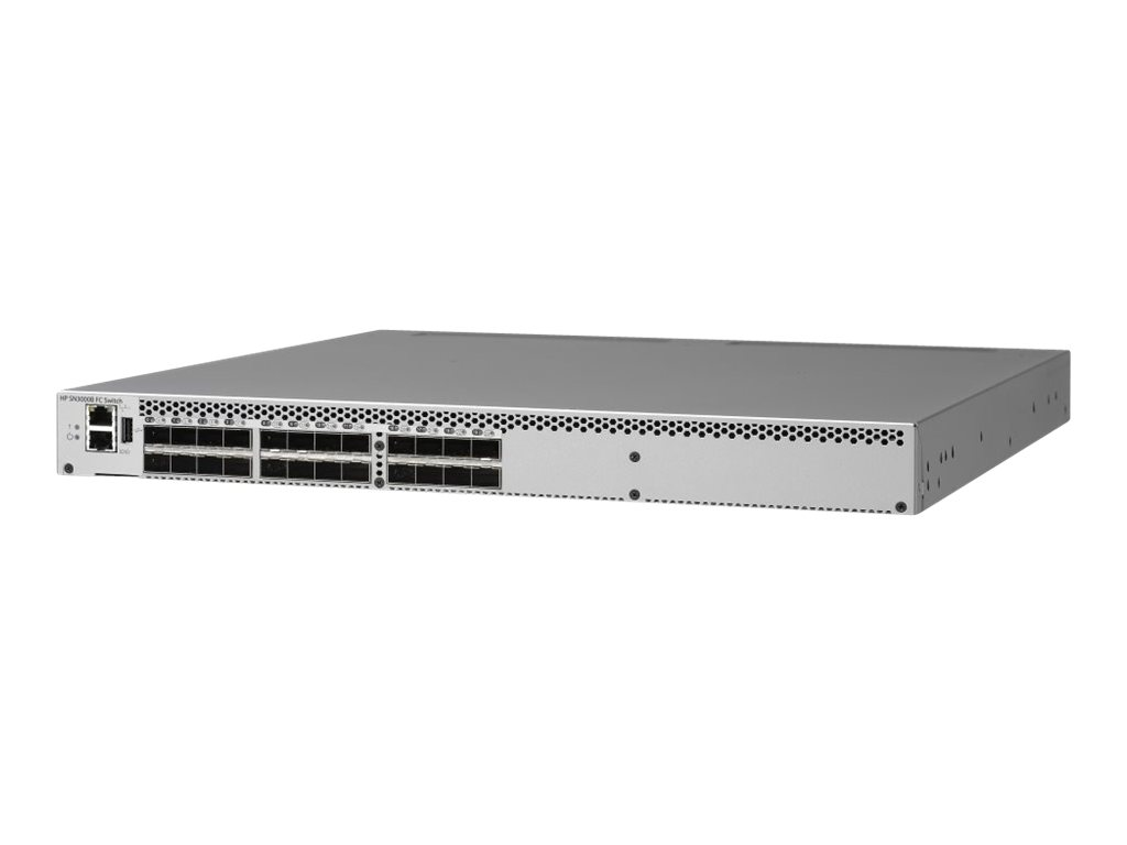 HPE SN3000B 16Gb 24-port/12-port Active Fibre Channel Switch - Switch - 12 x SFP+ - an Rack montierbar - HPE Complete