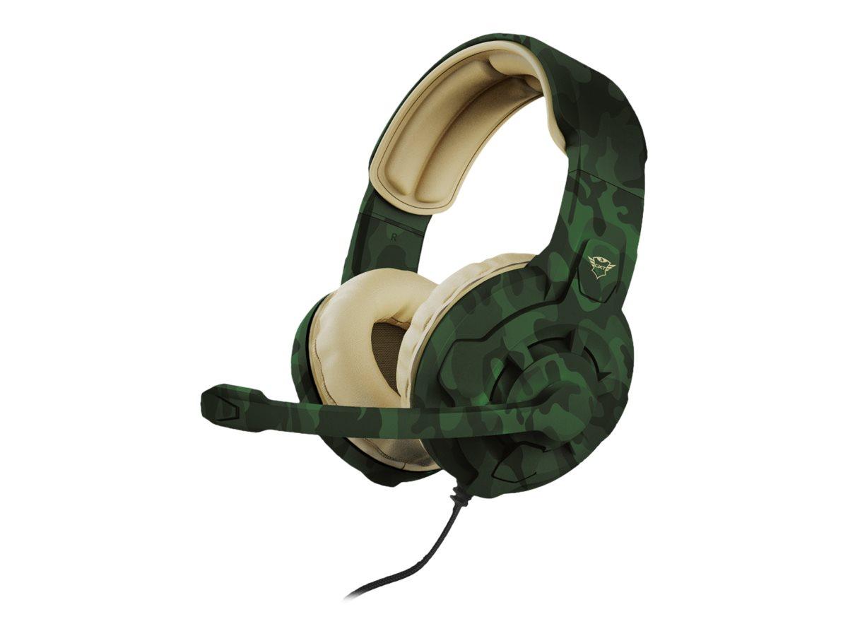Trust Gaming GXT 411C Radius - Headset - ohrumschliessend - kabelgebunden - 3,5 mm Stecker - Jungle Camo