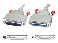 Lindy - Kabel seriell - DB-25 (M) bis DB-25 (W) - 50 cm - geformt